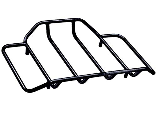 Black Tour Pak Luggage Rack Rear Trunk Lid Carrier Harley Davidson Touring Street Glide Road King Electra Ultra Classic Limited Tri CVO ref # 53665-87 Box Pack tie down Chopped Razor lids bags bagger