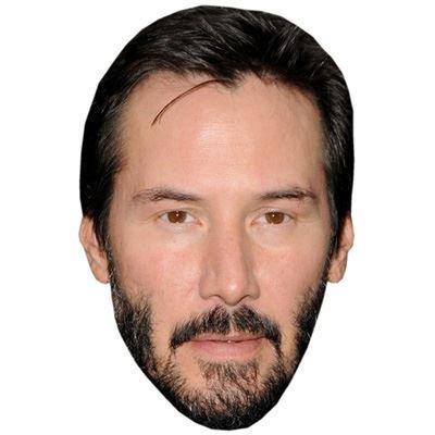 Celebrity Cutouts Keanu Reeves Maske aus Karton
