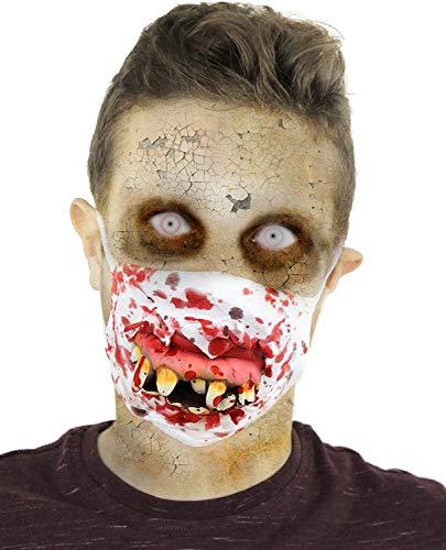 ILOVEFANCYDRESS Un Masque de Chirurgien avec 16 Dents de Zombie pour Adulte. Ideal pour Les fêtes d'halloween. ( X24 )