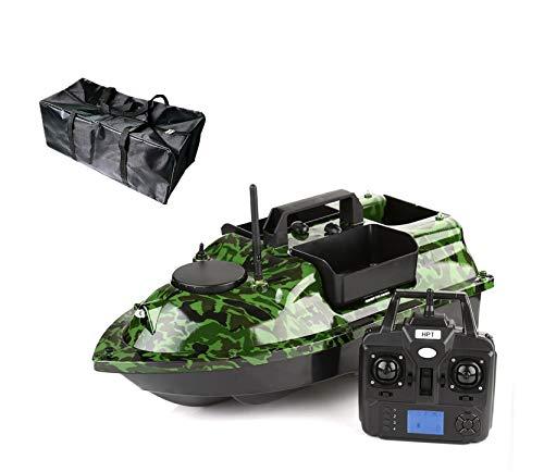 Pesca Bait Boat Fish Finder, GPS Smart Feeder Speedboat, Tools de Pesca de Pesca con Control Remoto de Doble motor-2021 Nuevo,12000mah
