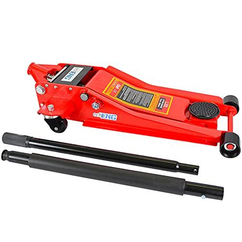 Crick sollevatore martinetto idraulico a carrello cric idraulico per auto 3 t 3 tonnellate 3 ton super ribassato per auto e furgoni - echoENG - MA CC 300R