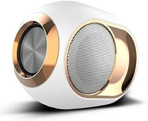 Altavoz inalámbrico Bluetooth TCYYS-High-End Loud - 108 DB, emparejamiento estéreo inalámbrico portátil para Exteriores (Blanco)