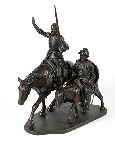 CAPRILO Figura Decorativa Resina Don Quijote y Sancho Panza Figuras Resina. 21 x 12 x 28 cm.