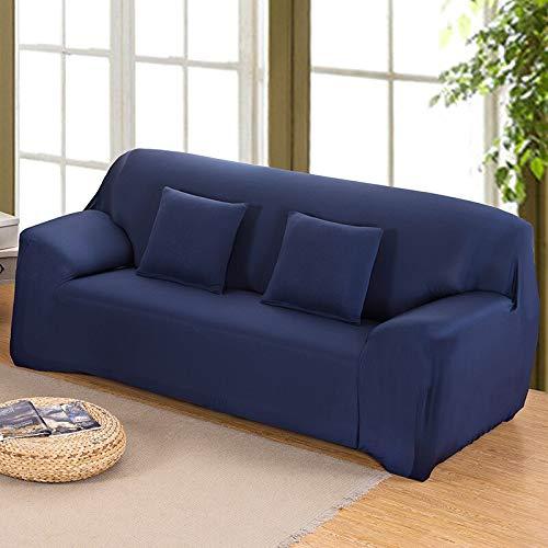 WXQY Funda de sofá elástica Azul, Funda de sofá elástica de Color sólido, Funda de sofá de Esquina, Funda de sofá de Sala de Estar con Todo Incluido A24 1 Plaza