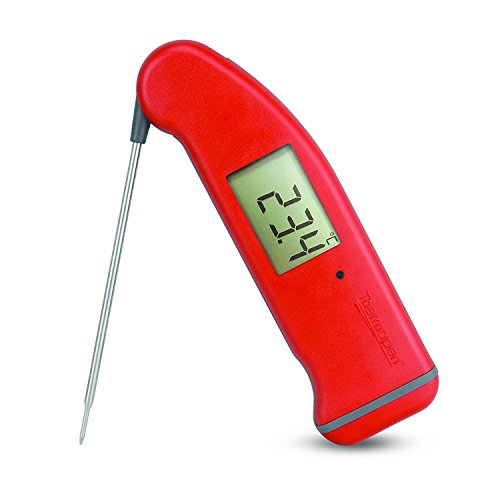 ETI SuperFast Thermapen 4 – Professionelles Thermometer mit 360°-Rotations-Display rot