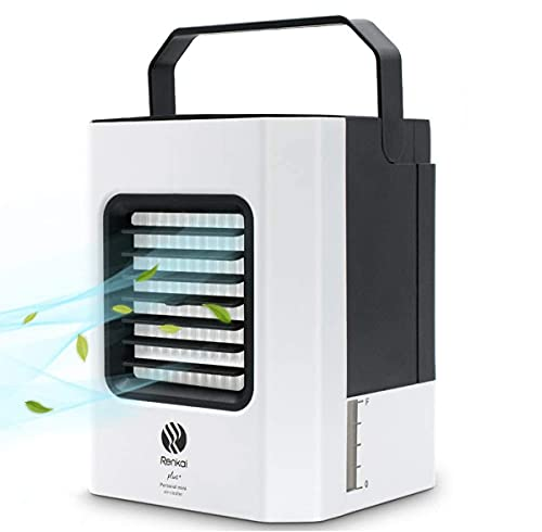 Climatizzatore Portatile, Condizionatore Portatile con Funzione di Umidificazione, Cavo USB, 3 Velocità, Condizionatore con Funzione di Purificazione Dell'aria, Utilizzato in Scrivanie, Stanze, Uffici