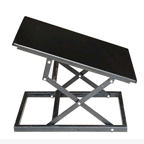 Table Pliante Ordinateur Portable sur Le Lit Pas Besoin D'installer Ascenseur Etabli Mobile Noir 10-40cm Réglable Tingting (Couleur : Noir)
