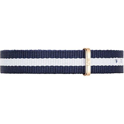 Daniel Wellington, Classy Glasgow DW00200078, Orologio da polso, cinturino in pelle e in tessuto, colore: blu e bianco/rosa oro