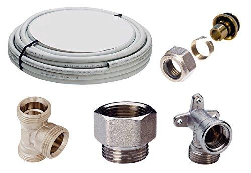 WIROFLEX® | Installationsset | Schraubsystem | Rohr | Flexibel | Mehrschicht-Verbundrohr | DVGW | 16 x 2 mm | 10 m