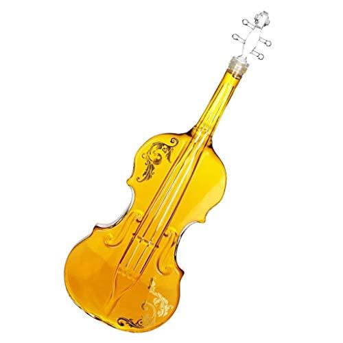 Decantador de vino, estilo de violín Botella de vidrio Guitarra Forma de guitarra Decantador de cristal de cristal Botella de licor de vino Decantador de la botella de vino 1000ml Decoración de la mes
