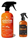 ANGRY ORANGE 24oz Pet Odor Eliminator Spray & 6oz Eliminati Bathroom Odor Eliminator