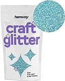 Hemway Craft 100g -Purpurina fina 1/64'0.015' 0,4 mm, azul celeste, FINE 1/64' 0.015' 0.4MM