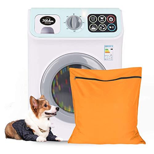 Bolsa de Lavandería para Mascotas, Wisdom1674 Gran Tamaño Bolsa de Lavandería con Cremallera, Filtrar el Pelo de Las Mascotas, Ayudante de Lavandería, Ideal para Mascotas Ropa, Mantas