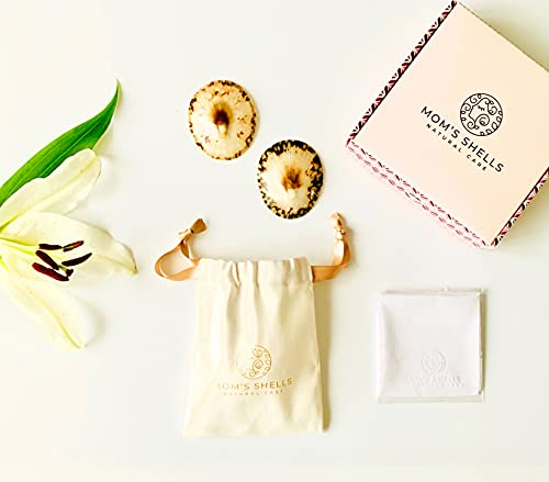 MOM'S SHELLS (T.Medium) - Coquillages d'allaitement Nacre + Lingette OFFERTE - Protège-Mamelons...