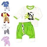 Baby Sweets Unisex 2er Baby-Set mit Hose & Shirt für Mädchen & Jungen/Baby-Erstausstattung in Grün-Beige im Panda-Motiv/Baby-Kleidung aus Bio-Baumwolle in Größe 68 (6 Monate)