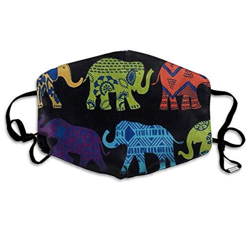 Garde Art Studio Unisex Einstellbarer gesunder Gesichtsschutz - Wiederverwendbarer, bequemer, atmungsaktiver Mundschutz für Mundschutz - Verhindern Sie, DASS Schwarze Elefanten im Freien sind