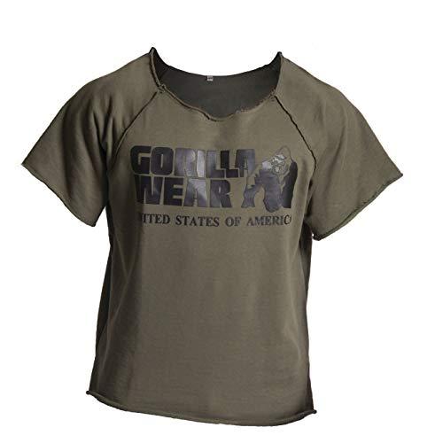 Gorilla Wear Classic Work Out Top - armeegrün - Bodybuilding und Fitness Bekleidung Herren, L/XL