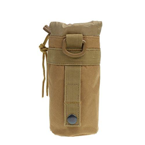 Gazechimp Nylon 600D Sac Tacticque Militaire Molle Sacoche Porte-Bouteille de l'eau pour Jeu de Guerre Camping Escalade - Coyote Tan, Taille Unique