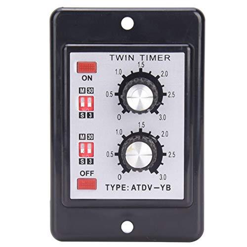 Control de perilla AC110V / 220V ajustable Interruptor de tiempo Relé de encendido y apagado Relé de temporizador doble Alta confiabilidad ATDV-YB Chips de alta precisión para sistemas de