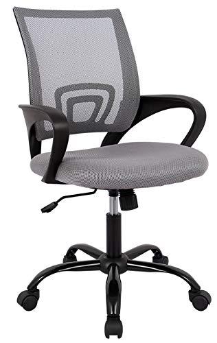 SixBros. Bürostuhl Drehstuhl Schreibtischstuhl Grau 1411F-1/8401