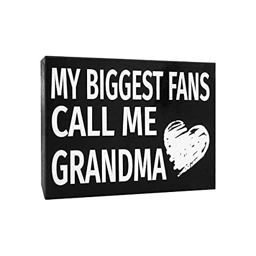 JennyGems My Biggest Fans Call Me Grandma | Wood Sign | Gifts for Grandma | Grandma Plaque | Grandma Gift | Sign for Grandma | Birthday Gift For Grandma | Made in USA