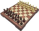 MWKLW Staunton Chess Ajedrez Tablero de plástico Plegado Juego de ajedrez magnético Internacional Exquisito ajedrez Juegos de Rompecabezas Juego de Mesa Juego de ajedrez para niños