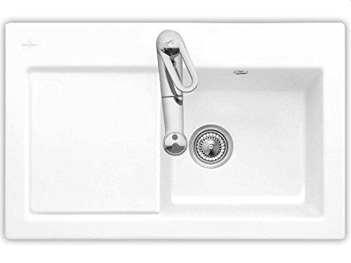 Villeroy & Boch Subway 45 Keramik-Spüle/Farbe: weiß (alpin) / Einbau-Spüle / 780 x 510 mm/CeramicPlus/mit Lotus-Effekt