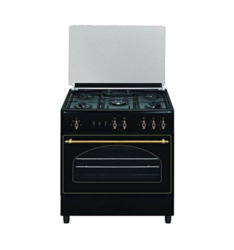VITROKITCHEN Cocina RU9060B 5F 90CM BUTANO Horno, 110 litros, Antracita