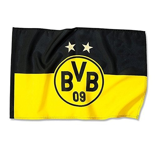 Borussia Dortmund BVB 09 -  Hissfahne 2 Sterne
