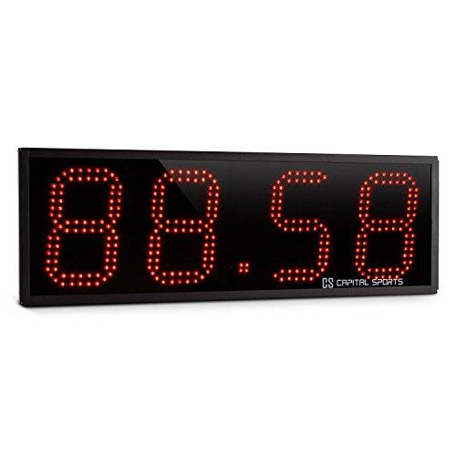 Capital Sports Timeter Sporttimer Tabata Cronometro Timer Palestra Crosstraining Orologio LED (4 cifre, 10 CM, 3 modalità pre-programmate, telecomando)