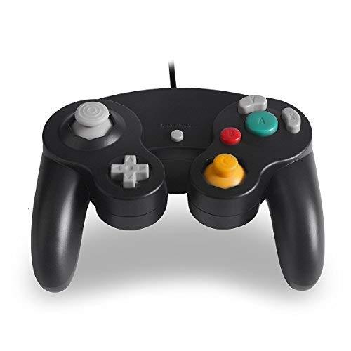 TenchKen Wired Gamecube Controller,NGC Gamepad Game Cube Controller Ersatz Joystick Gamecube Spiele für GC/Wii (Black)