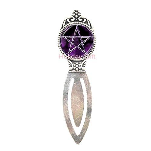 Fashion Bookmark,Pentagram Bookmark Pentagram Jewelry Pentagram Bookmarker Wicca Bookmark Protection Amulet Pagan Bookmark Wiccan Jewelry Pentacle Bookmark,AE0057 (S1)