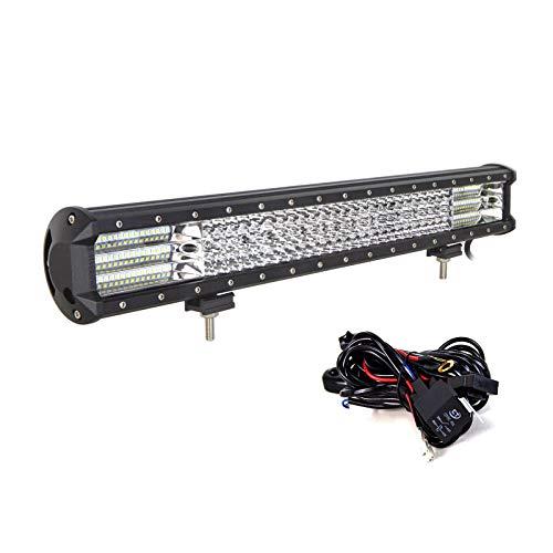 SKYWORLD LED Light Bar, 23 inch 570W Quad Row Spot Flood Combo Beam LED Offroad Driving Work Lights Fog Lamp with Wiring Harness for 4x4 4WD Truck ATV UTV SUV Vehicles 12V 24V