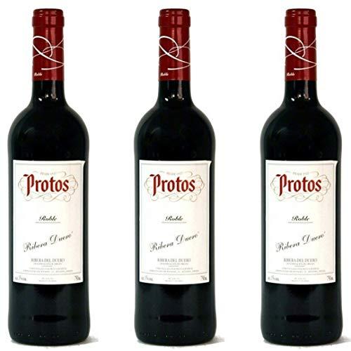 Protos Vino Tinto Roble - 3 botellas x 750ml - total: 2250 ml
