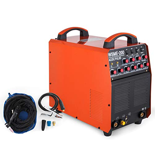 Mophorn Inverter WIG/TIG Inverter Schweißgerät AC/DC PULSE Aluminium 200Amp MMA Schweißen HF IGBT (3 in 1)