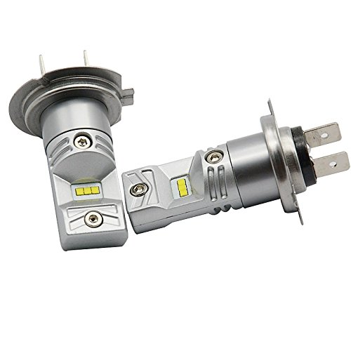 ZGMA 2pcs Stationnaire Ampoules électriques 35W LED Haute Performance 2 Lampe Frontale For Universel Universel Universel White Flood 2 H7