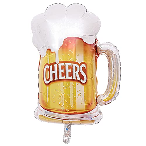 Party Decorations Kit,Party Foil Balloons Champagne Beer Whiskey Bottle Wine Glass Helium Mylar Balloon Carnival Adult Party Supplies for Birthday Wedding Halloween Christmas Decoration-CHEERS