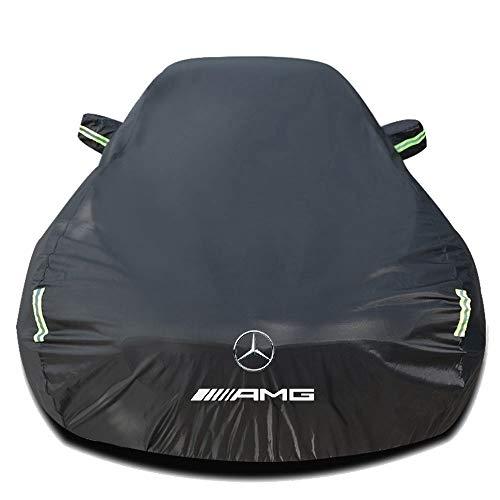 Whitejianpeak Autoabdeckung Kompatibel mit Mercedes-AMG GT Coupe/Roadster, Wasserdicht Autoabdeckplane Abdeckung Plane Autoplane Vollgarage Autogarage mit Aufbewahrungstasche, schwarzes Silber
