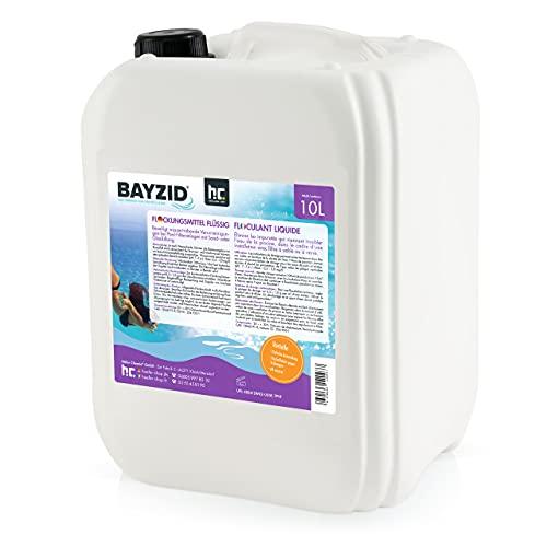 Höfer Chemie 1 x 10 L Pool Flockungsmittel flüssig BAYZID kristallklares Poolwasser - einfache Anwendung + hocheffektive Wirkung gegen Trübungen