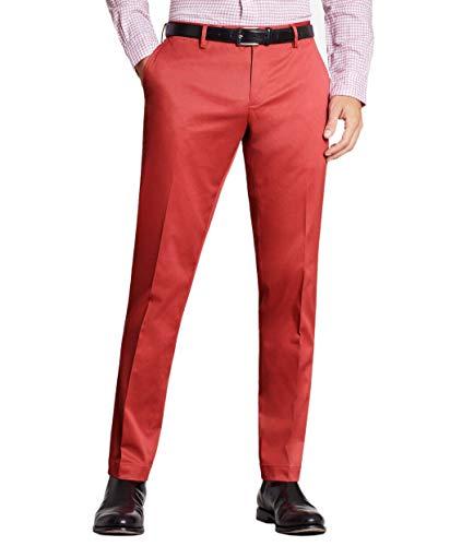 Brooks Brothers Mens Clark Fit Stretch Advantage Chinos Pants Dark Pink (35W x 30L)