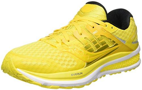 Saucony Triumph ISO 2-M, Chaussures de Running Homme - Multicolore - Multicolore (Long Run Lemon), 44 EU EU