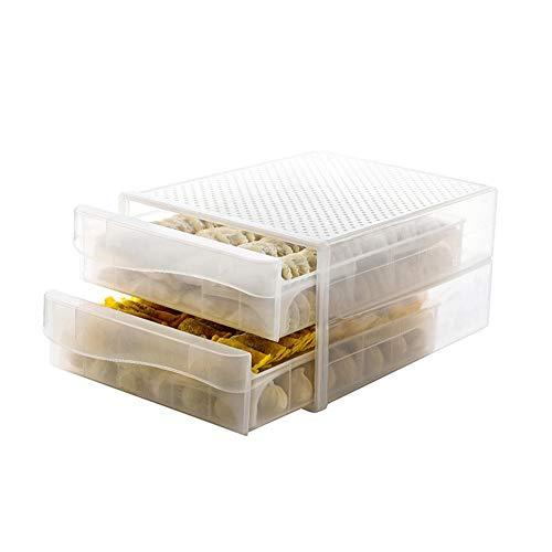 Mooderff Eierbox voor koelkast, transparante kunststof bolletjes, bewaardoos, meerlagige lade, frisse opbergdoos voor keuken