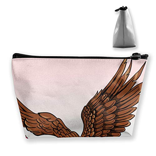 Multi-Functional Print Trapezoidal Storage Bag for Female Mexican Eagle