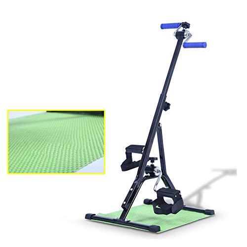 Ejercitador de piernas y brazos plegables, bicicleta de pedales de ejercicios ajustables, equipo de ejercicios para personas mayores y recuperación de ancianos