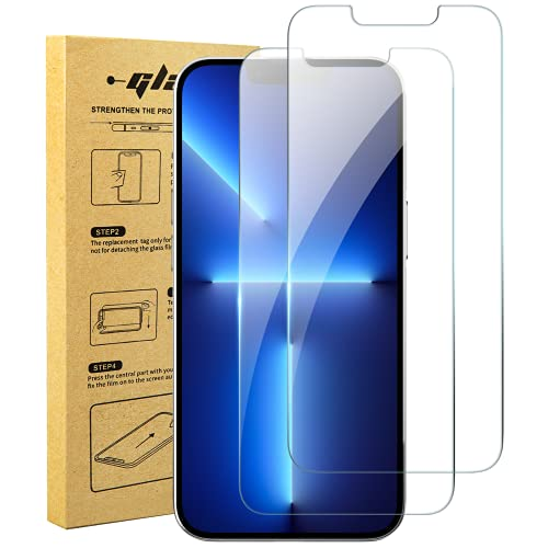 xiwxi Tempered Glass Screen Protector for iPhone 13 Pro/iphone 13 Glass Screen Protector [6.1 Inch] (2021) UltraGlass Screen HD Film 9H Anti-Scratch-Case Friendly