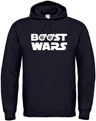 Textildruck Universum Hoodie Boost Wars (L, Schwarz)