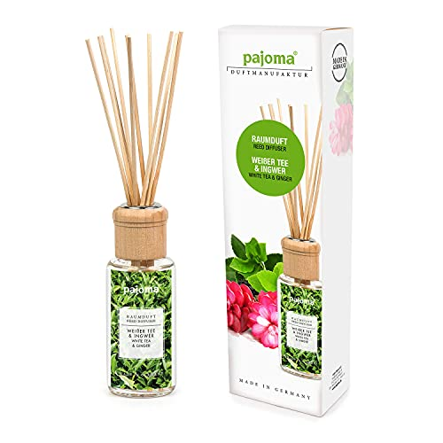 pajoma Raumduft Weißer Tee & Ingwer, 1er Pack (1 x 100 ml) in Geschenkverpackung