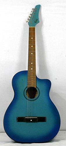 Musikalia Guitarra Acústica de liuteria, Cutaway tondeggiante, barnizar Azul Sunburst