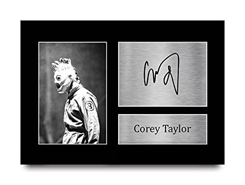 HWC Trading Corey Taylor A4 Ungerahmt Signiert Gedruckt Autogramme Bild Druck-Fotoanzeige Geschenk Für Slipknot Musik-Fans