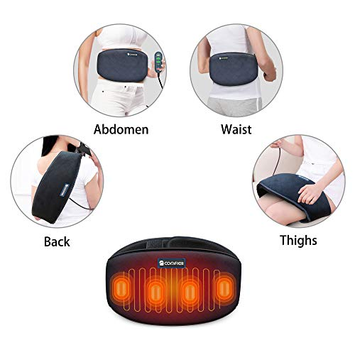 Comfier Heating Pad for Back Pain - Heat Belly Wrap Belt with Vibration Massage, Fast Heating Pads with Auto Shut Off, for Lumbar, Abdominal, Leg Cramps Arthritic Pain Relief